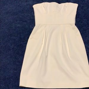 BCBGMAXAZRIA white sleeveless mini pockets dress